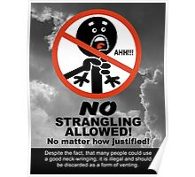 Strangling Is Not Allowed Poster