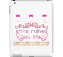 anime ruined my life iPad Case/Skin