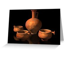 Ancient Roman Pottery Greeting Card