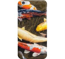 Japanese Koi fish swim together iPhone Case/Skin