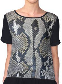 Python snake skin texture design Chiffon Top