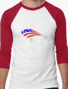 Fishing Lure Men's Baseball ¾ T-Shirt