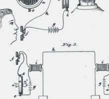 Alexander Bell Telephone Receiver Patent 1881 Sticker