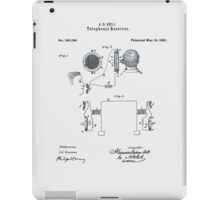Alexander Bell Telephone Receiver Patent 1881 iPad Case/Skin