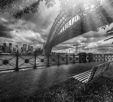 Sun rays by the bridge by mellosphoto