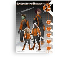 Officer Uniform (Engineering) Canvas Print