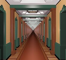 Never Ending Art Deco Corridor by Paul Fleet