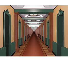 Never Ending Art Deco Corridor Photographic Print