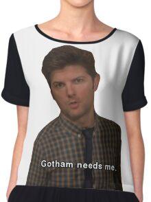 Gotham Needs Me -Ben Wyatt Chiffon Top