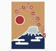 Mount Fuji in Spring Kids Tee