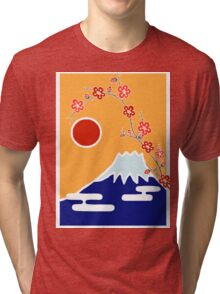 Mount Fuji in Spring Tri-blend T-Shirt
