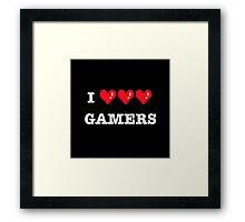 I heart Gamers Framed Print