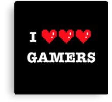 I heart Gamers Canvas Print