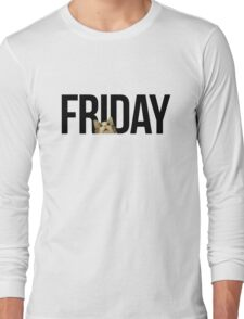Friday cat - version 1 - black Long Sleeve T-Shirt
