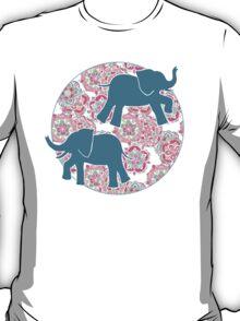 Tiny Elephants in Fields of Flowers T-Shirt
