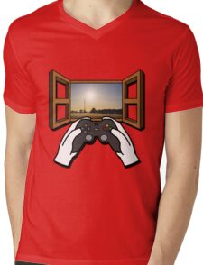 Let's Play Real Life Mens V-Neck T-Shirt