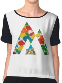Candy fish + cat Chiffon Top