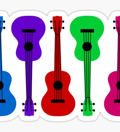 Ukulele - colours Sticker