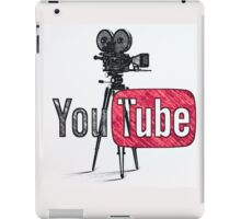 Youtube With Old Camera Drawing iPad Case/Skin