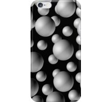 3D Balls!  What more could you want.  Glows under black light! iPhone Case/Skin