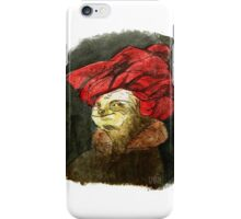 Portrait of a Sloth in Red Turban iPhone Case/Skin