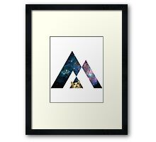 Abstract cat in space - version 1 Framed Print