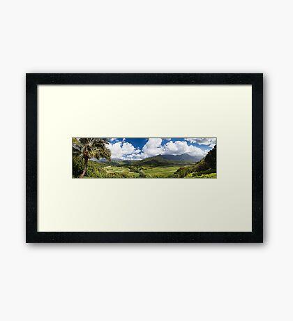 Hanalei Valley's taro fields in Kauai, Hawaii Framed Print