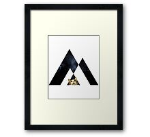 Abstract cat in space - version 2 Framed Print