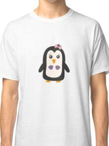 Penguin with bikini   Classic T-Shirt