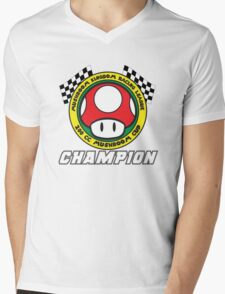 Mushroom Cup Champion Mens V-Neck T-Shirt