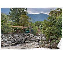 Pastaza River and Leafy Mountains in Banos Ecuador Poster