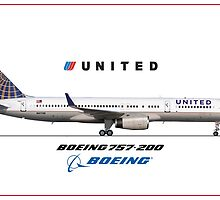 Airlines Collection Boeing 757-200 United by wilsoncara
