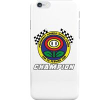 Flower Cup Champion iPhone Case/Skin