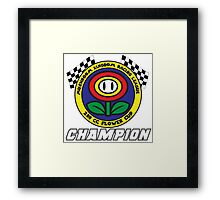 Flower Cup Champion Framed Print