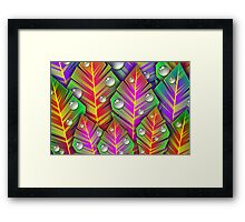 Leaves and Droplets Framed Print