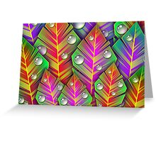 Leaves and Droplets Greeting Card