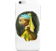 Sloth with a Pearl Earring iPhone Case/Skin