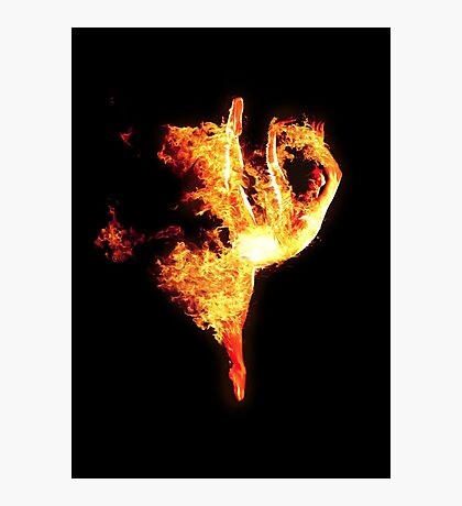 Girl on Fire Photographic Print