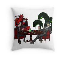 Playing some Go Fish Throw Pillow