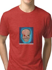 Love skull 6  by Diego Manuel Tri-blend T-Shirt