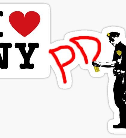 I Love NY (PD) Sticker