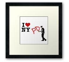 I Love NY (PD) Framed Print