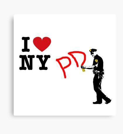 I Love NY (PD) Canvas Print