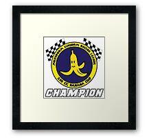 Banana Cup Champion Framed Print