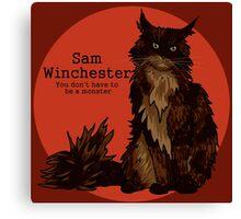 Sam cat - pre-Law and Hunter Canvas Print