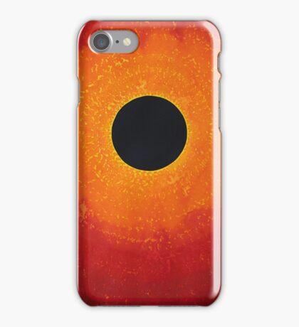 Black Hole Sun original painting iPhone Case/Skin