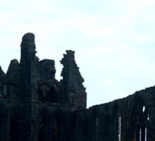 Whitby abbey, as seen from the harbour Sticker