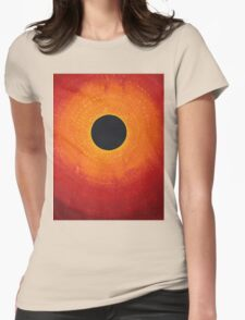 Black Hole Sun original painting Womens Fitted T-Shirt