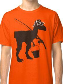 Funny fly fishing dinosaur Classic T-Shirt