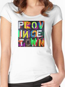 """""""Provincetown at Night"""" Dave Hay • haydave.com Women's Fitted Scoop T-Shirt"""